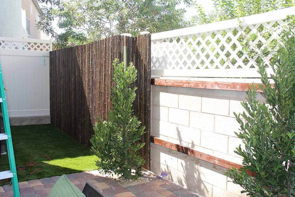 DIY Fence Ideas: Easy Bamboo Do it Yourself Fences