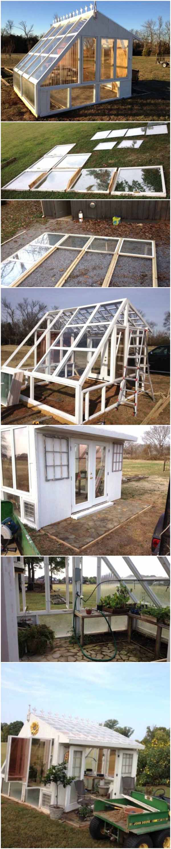 A DIY Greenhouse that's easy to Create | Build a beautiful outdoor greenhouse | Creative Greenhouse DIY plans