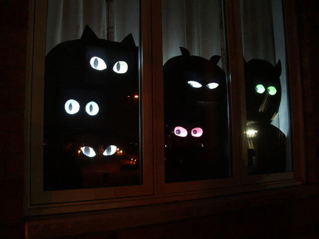 Stop Looking at Me! | DIY Halloween Window Decoration Ideas