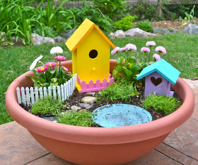 Cheerfully Yours Fairy Planter Garden | fairy garden accessories | miniture fairy garden ideas inspiration | homemade fairy garden decorations