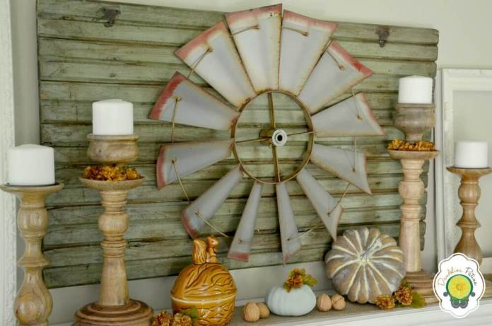 Country Theme Makes Fall Feel at Home   Fall Mantel Decorating Ideas For Halloween