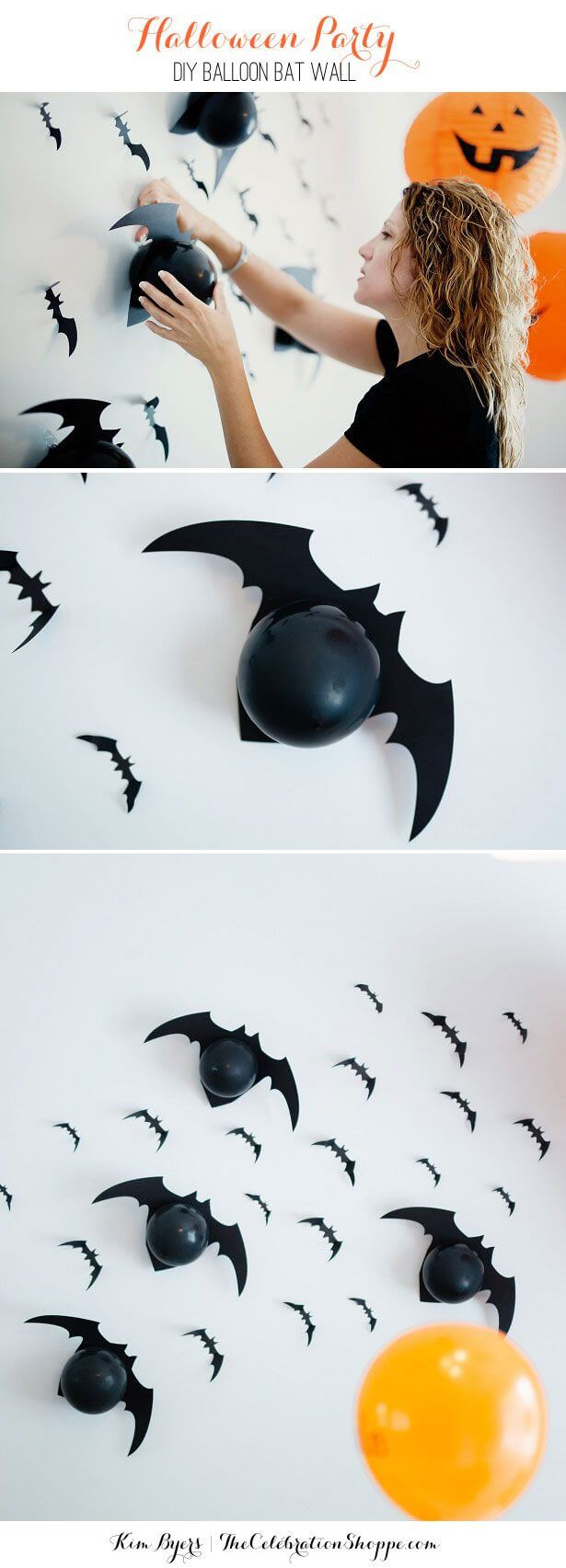 Batty Balloons | Awesome DIY Halloween Party Decor | BHG Halloween