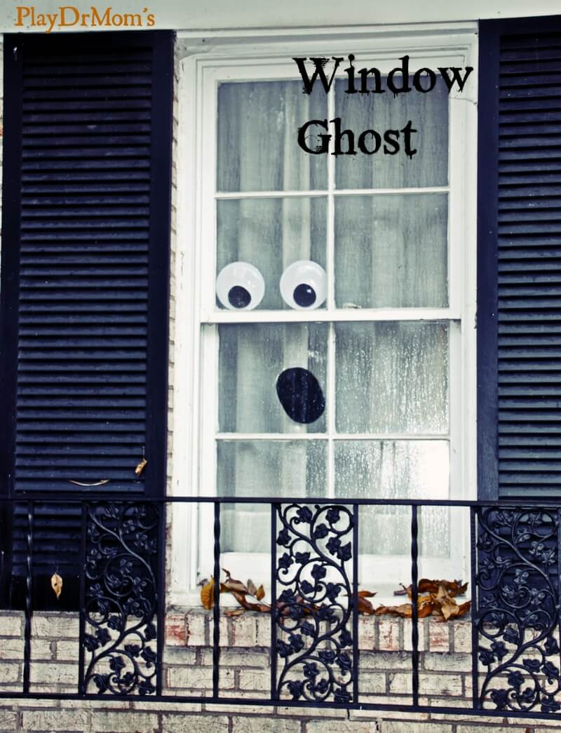 Ghost in the House | DIY Halloween Window Decoration Ideas