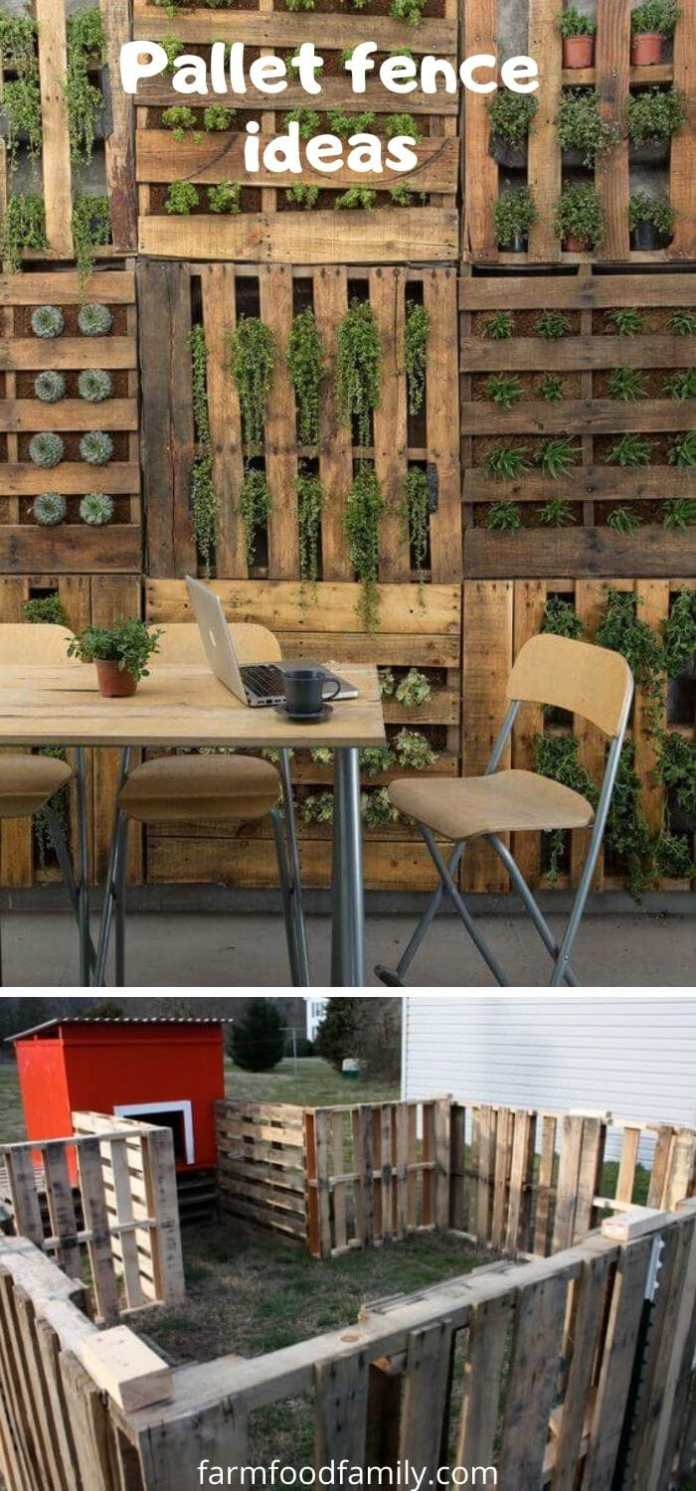 Pallet fence ideas and designs