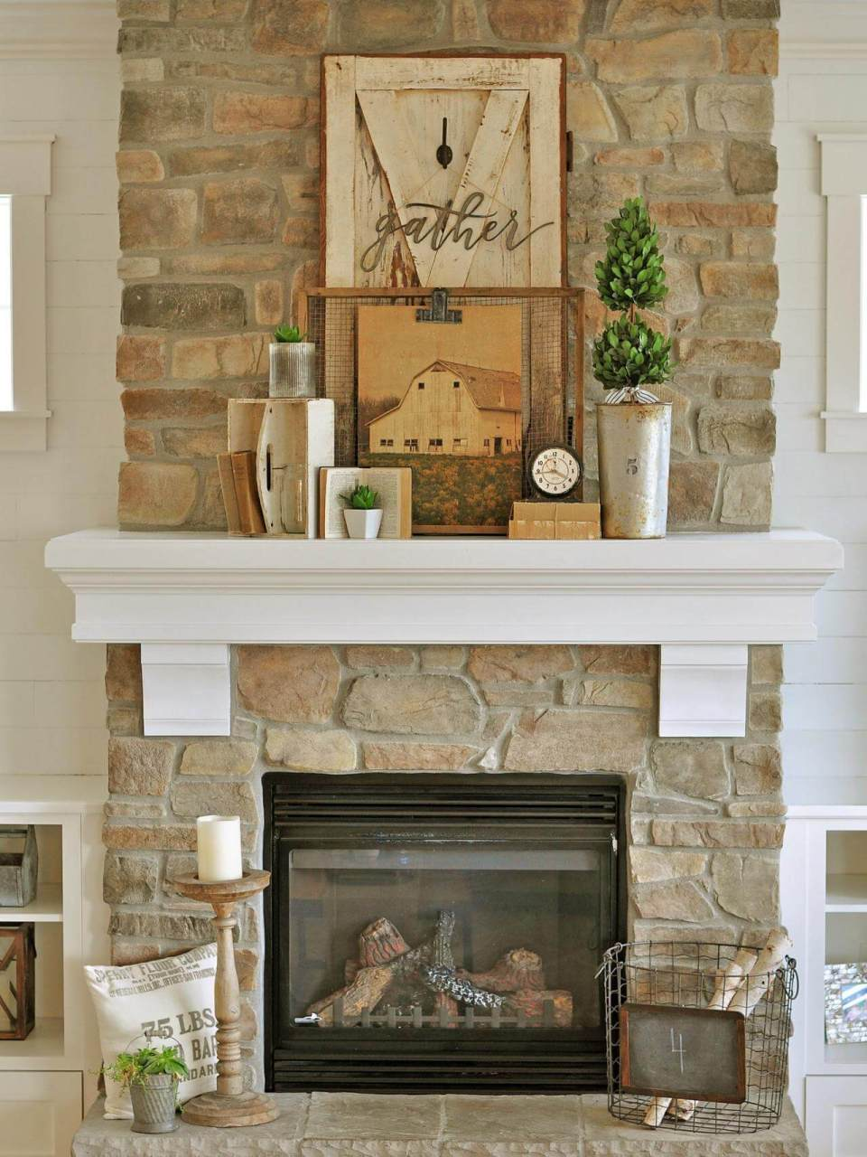 Gather at the Homestead to Celebrate Fall | Fall Mantel Decorating Ideas For Halloween