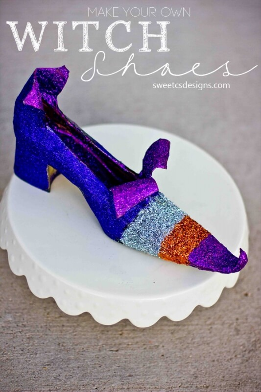 Witch Shoes Can Be Colorful | DIY Indoor Halloween Decorating Ideas