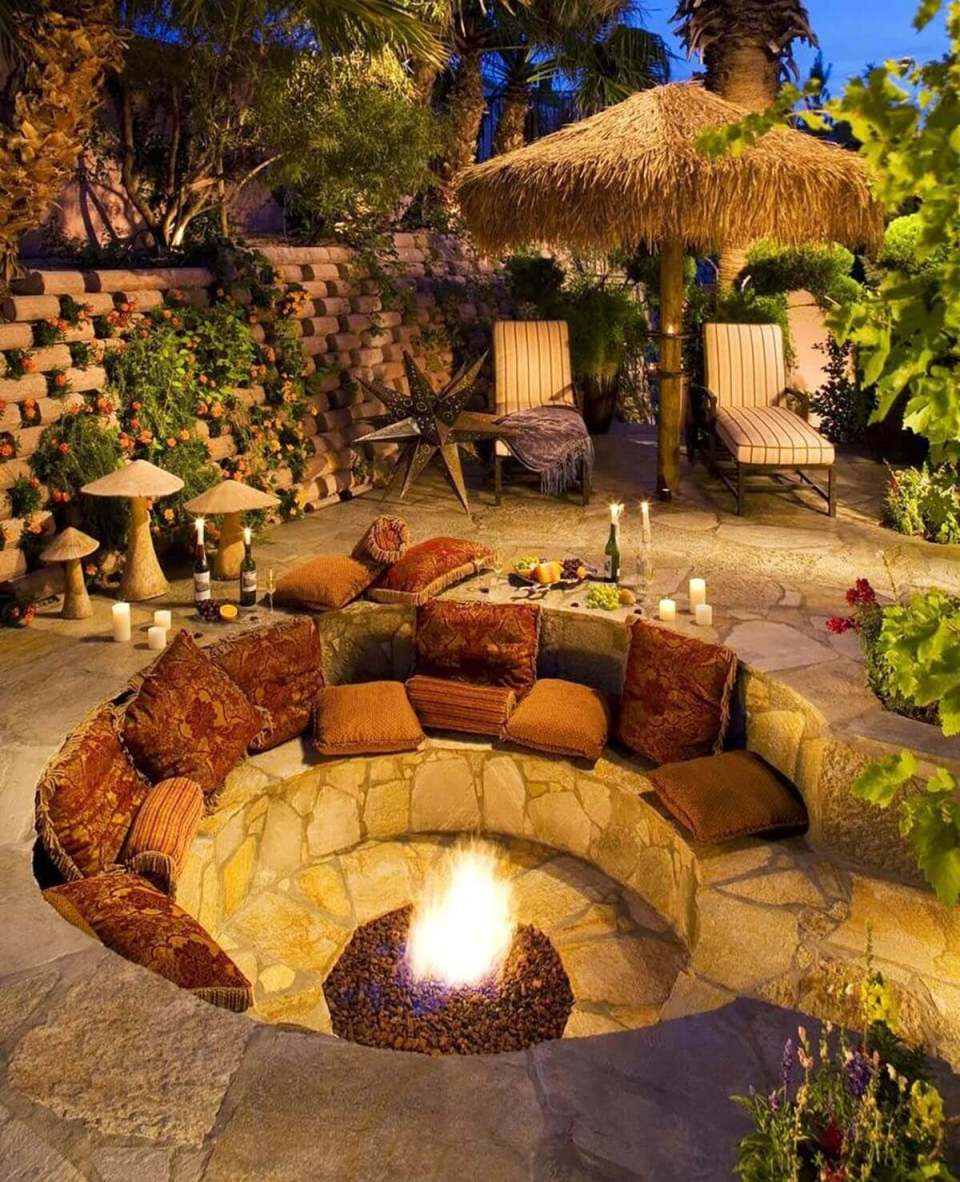 A Fire Hole with an Island Feel | Awesome Firepit Area Ideas For Your Outdoor Activities