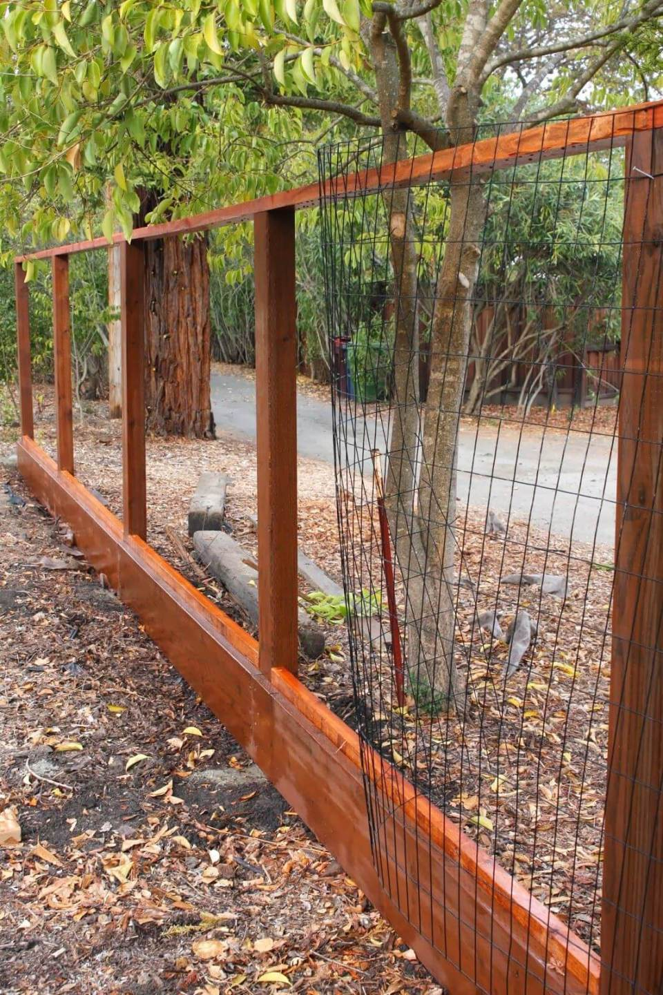 DIY Fence Ideas: Wood and Welded Wire Panel Fence