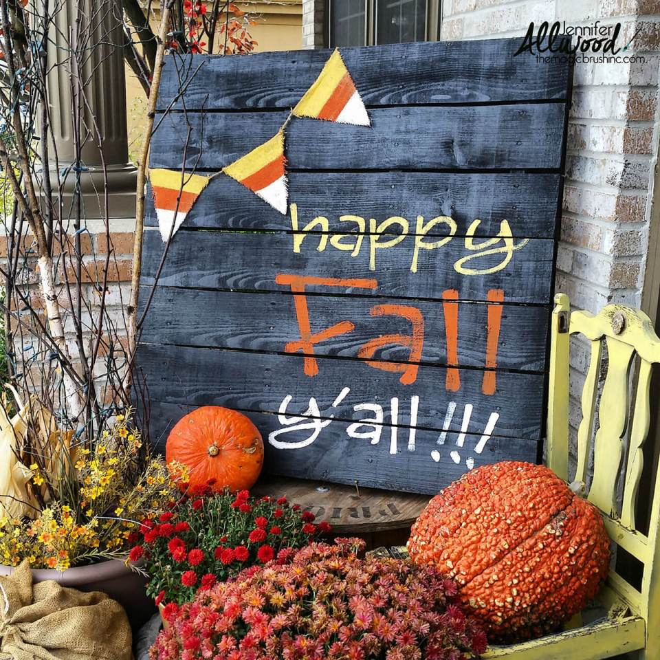 Southern Charm With a Fall Flair | Fall Porch Decoration Ideas | Porch decor on a budget