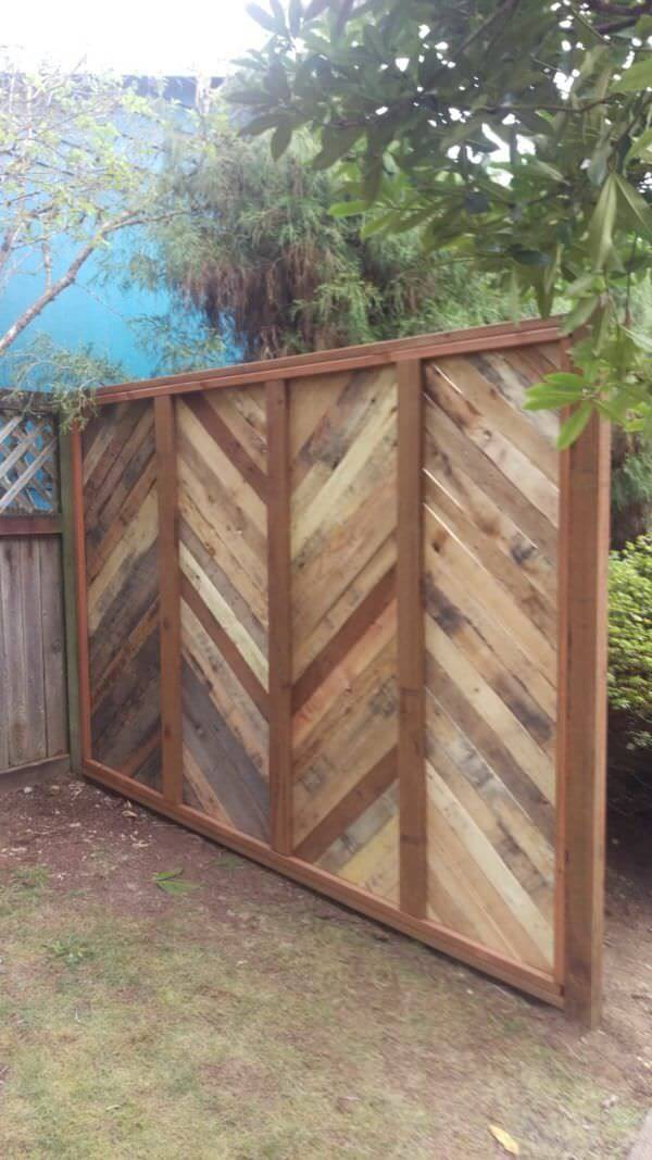 DIY Fence Ideas: DIY Wooden Chevron Panel Fence