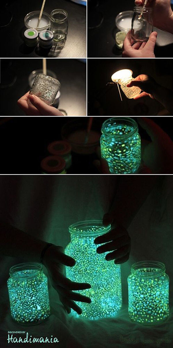 DIY Mason Jar Halloween Crafts: Awesome Glow-In-The-Dark Mason Jars