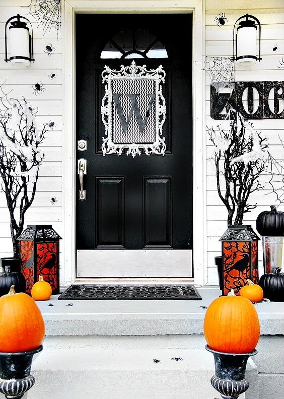 Halloween Door Decoration Ideas: Not Scary