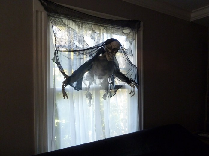 Portal from the Afterlife | DIY Halloween Window Decoration Ideas