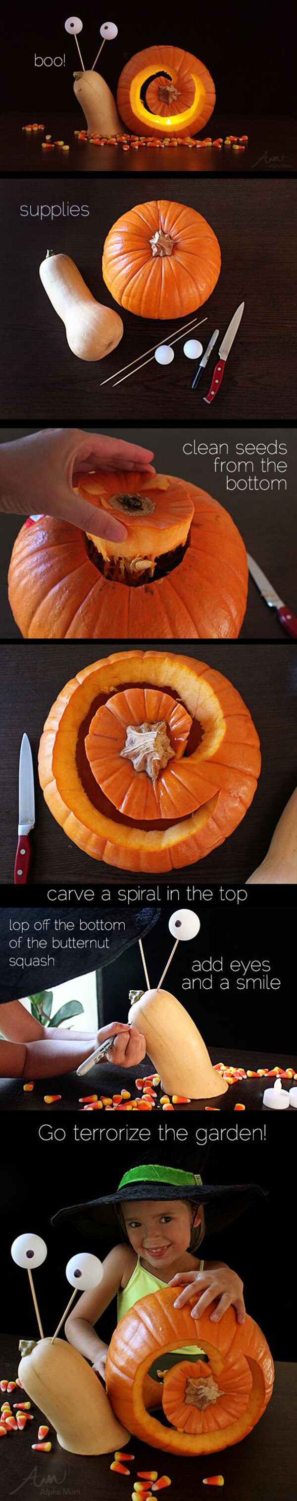 DIY Pumpkin Carving Ideas: Spiral Top