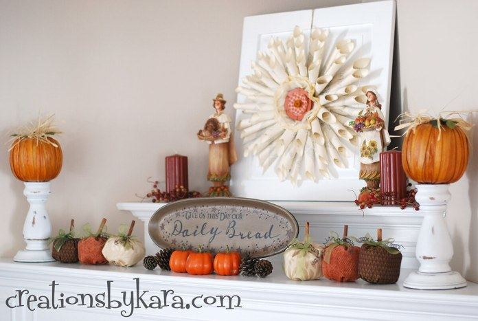 Designer Details with Fall Mantel Decorating Ideas | Fall Mantel Decorating Ideas For Halloween