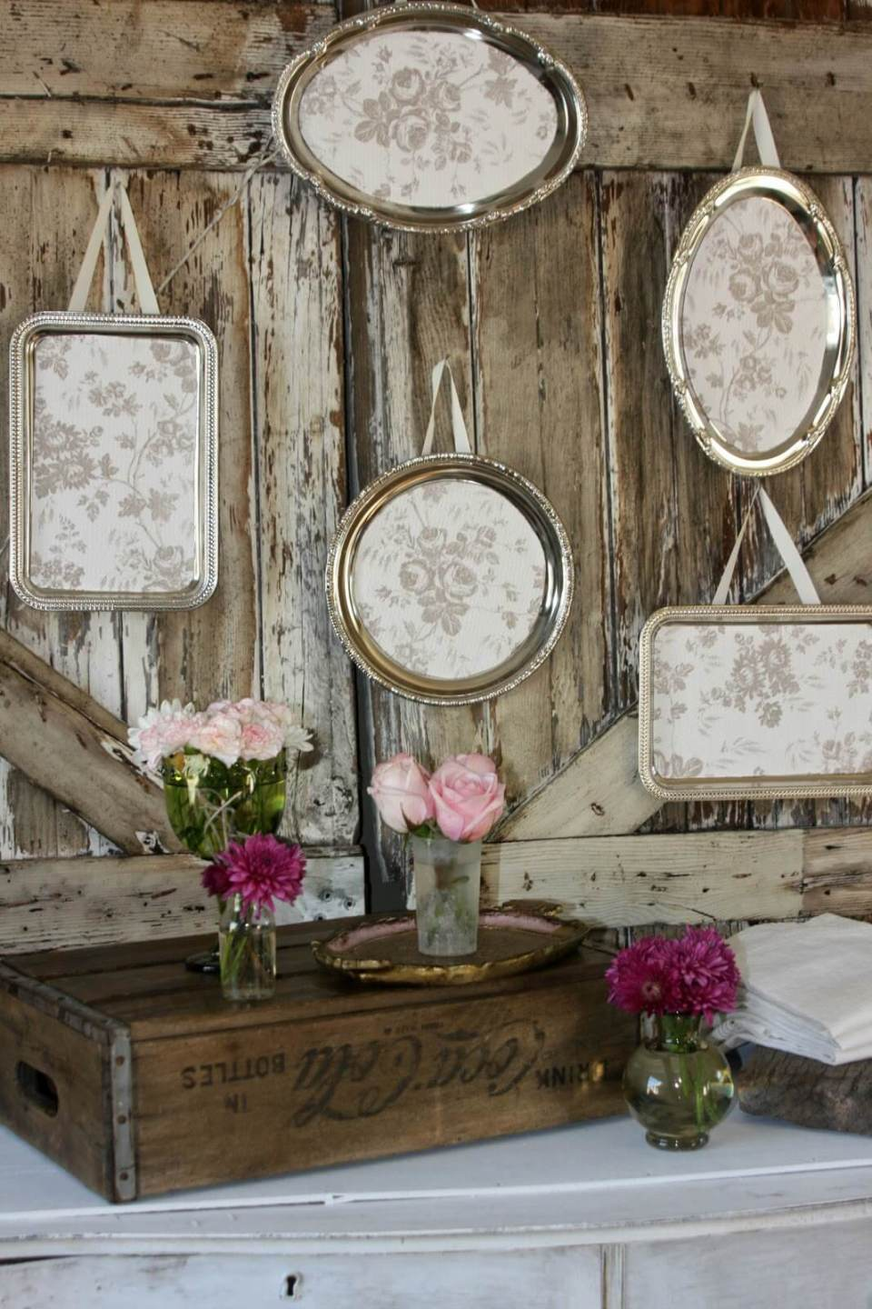 Antique Silverplate Hanging Wall Art | Vintage Porch Decor Ideas