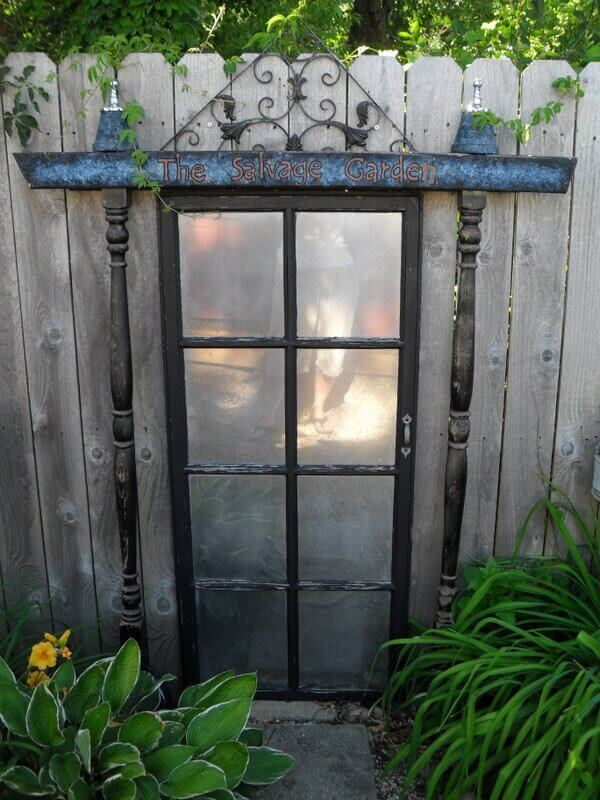 Magical Door into the Garden | Creative Repurposed Old Door Ideas & Projects For Your Backyard