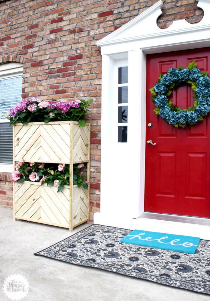 Two Tier Large Wood Planter Box