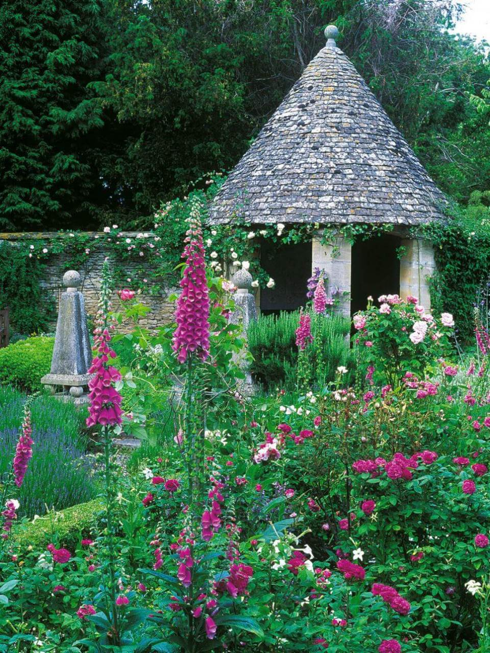 Fantasy Gazebo with Wild Gardens
