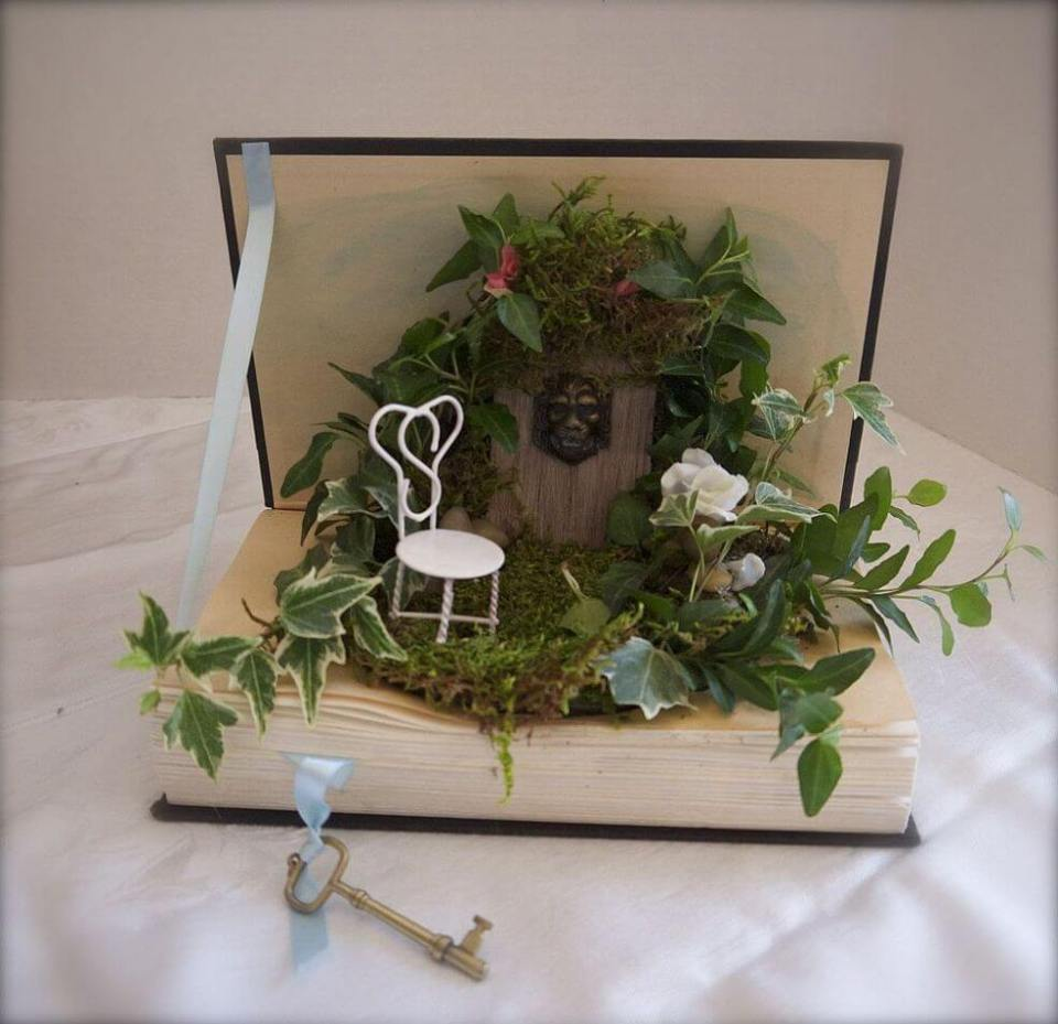 Once Upon A Time Fairy Centerpiece | fairy garden accessories | miniture fairy garden ideas inspiration | homemade fairy garden decorations
