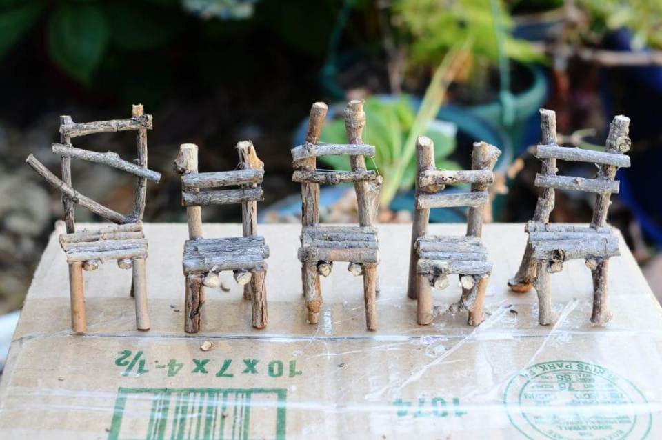 """Little Legs"" Hand Crafted Fairy Chairs 