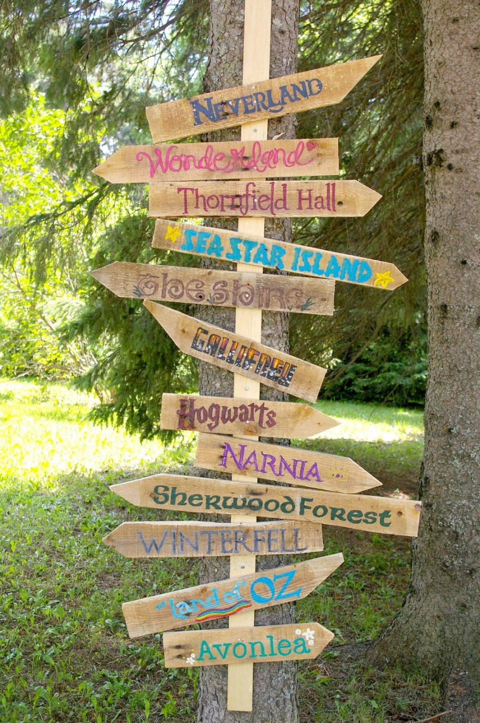 Which way shall we go?   Funny DIY Garden Sign Ideas