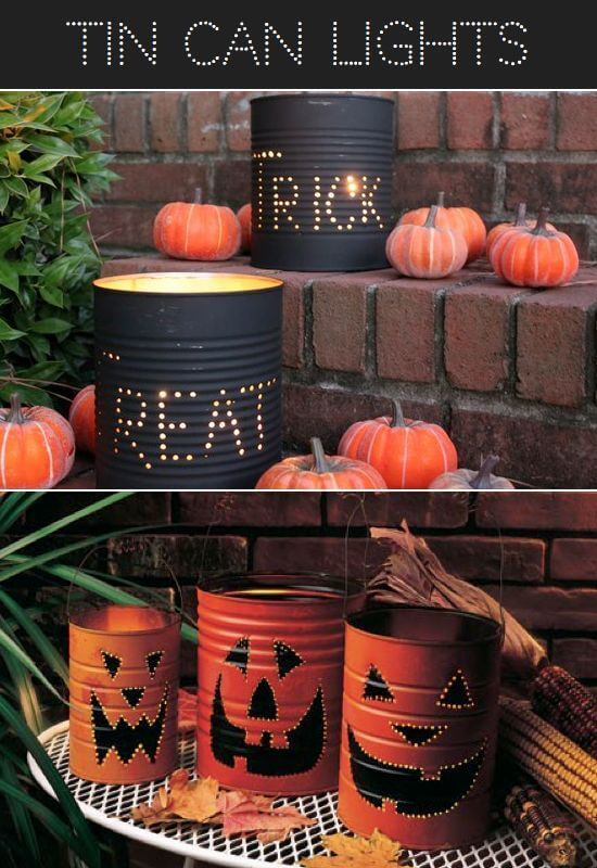 Tin-Can Alley on Halloween | Scary DIY Halloween Porch Decoration Ideas | vintage halloween porch
