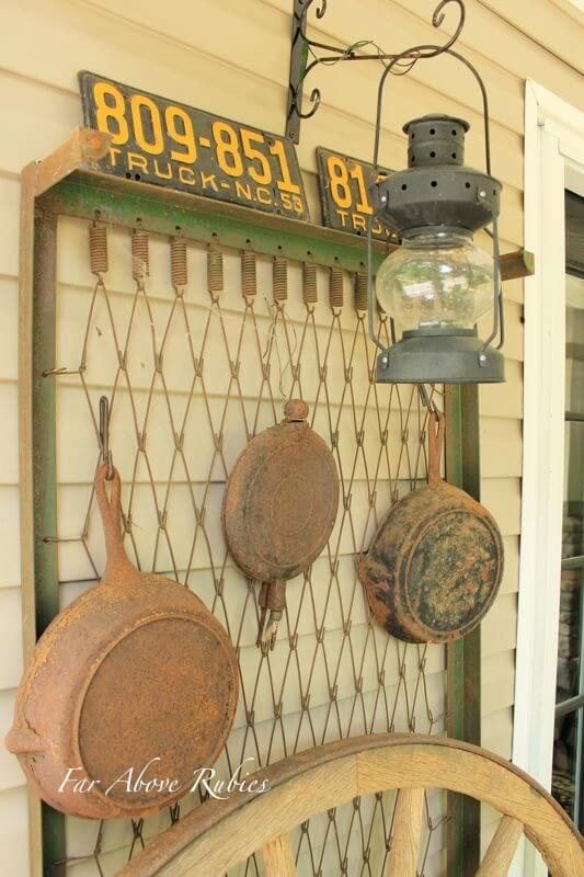 Miner Inspired Exterior Accent Wall | Vintage Porch Decor Ideas