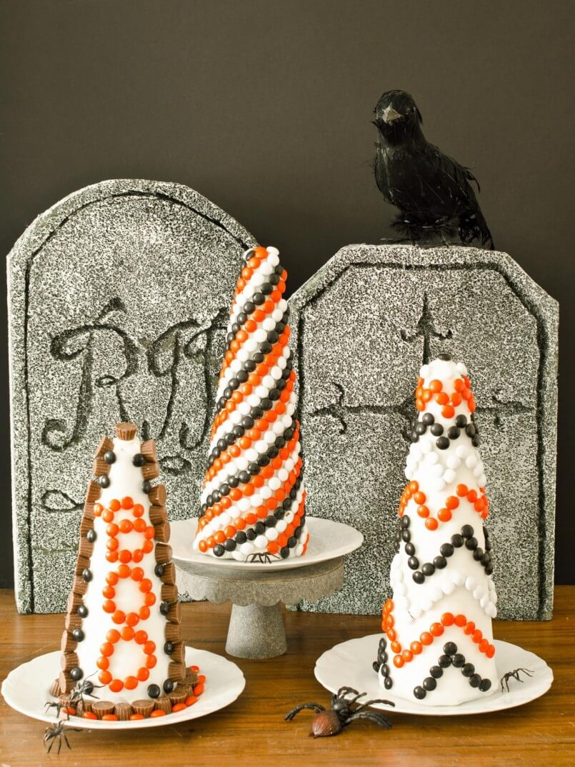 Halloween Candy Trees | Awesome DIY Halloween Party Decor | BHG Halloween