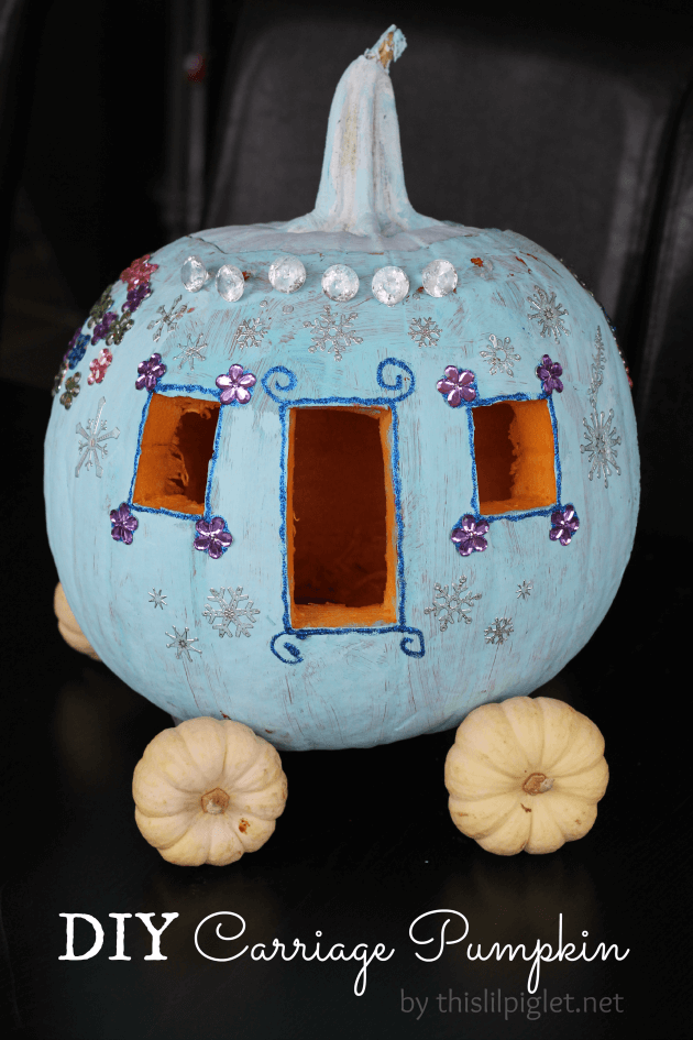 DIY Pumpkin Carving Ideas: For A Plain Yellow Pumpkin To Become A Golden Carriage