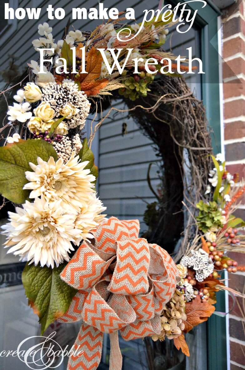 Make a Pretty Fall Wreath
