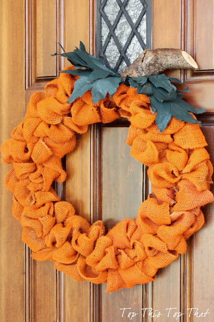 The Easiest Fall Burlap Wreath