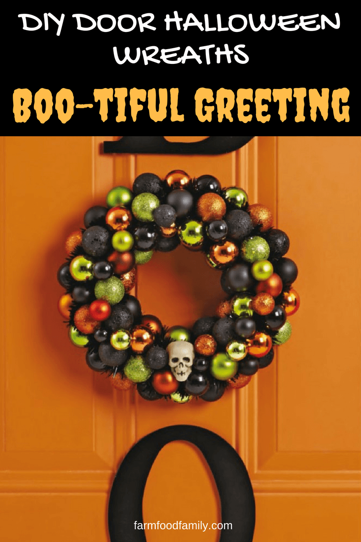 DIY Front Door Halloween Wreath: Boo-tiful Greeting