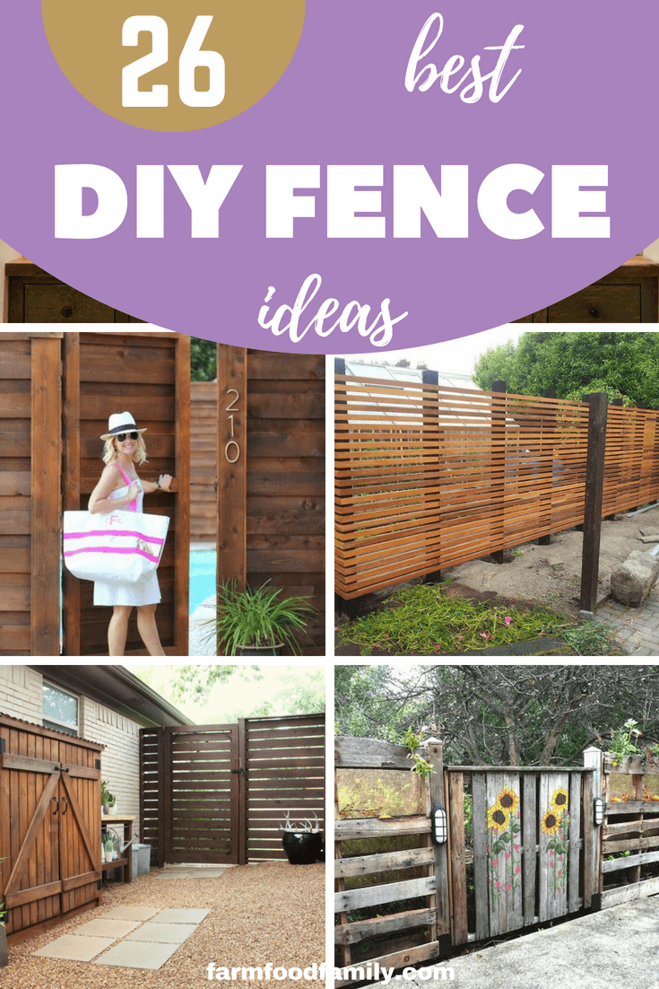26+ Affordable DIY Fence Ideas You Need To Try #diyfence #backyard #garden #privacy #farmfoodfamily
