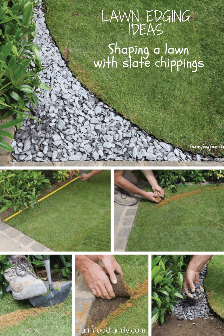 Garden Edging With Slate Chippings. Lawn Edging Ideas: ...