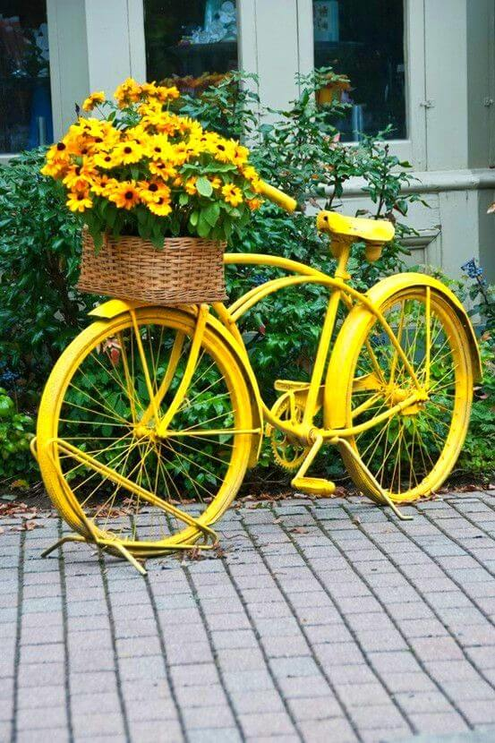 Cottage garden | Bicycle Garden Planter Ideas For Backyards | FarmFoodFamily