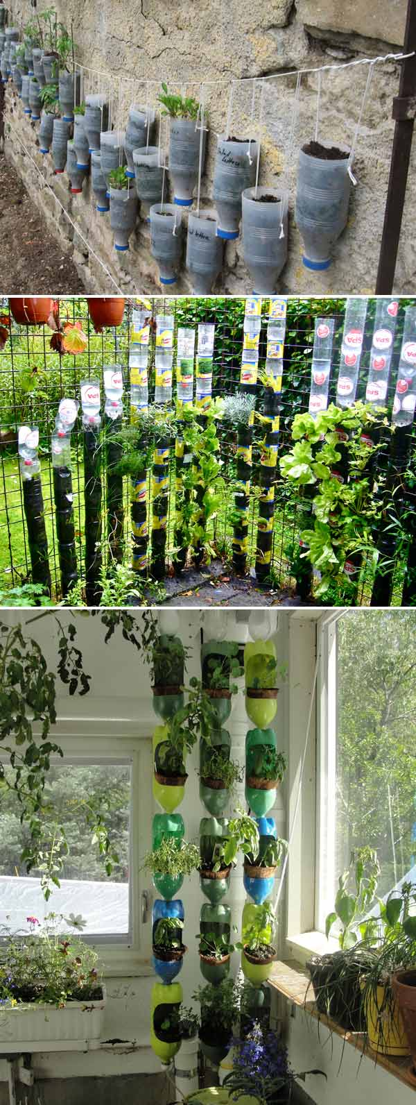 29+ Clever Plastic Bottle Vertical Garden Ideas - Farm.Food.Family