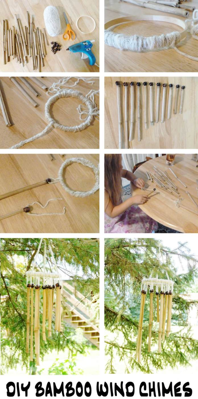 DIY Bamboo Wind Chimes | Stunning Bamboo Craft Projects | FarmFoodFamily.com