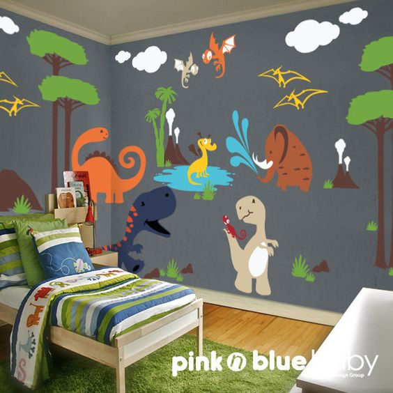 Dino Land Nursery Kids | Cool Zoo Themed Bedroom Ideas For Kids or Nursery