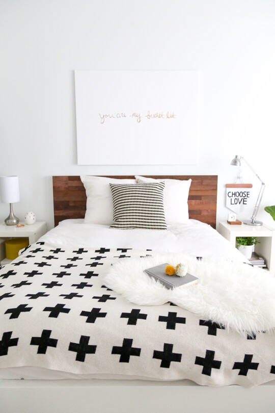 DIY IKEA Hack Stikwood Headboard | DIY Headboard Decoration Ideas for Bedroom