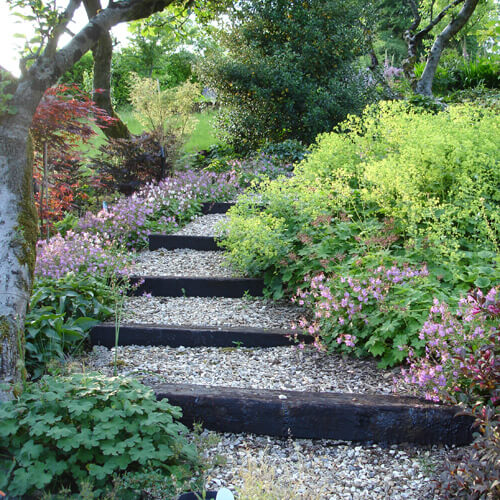 Landscaping Timber Stair | Creative Garden Step & Stair Ideas | FarmFoodFamily