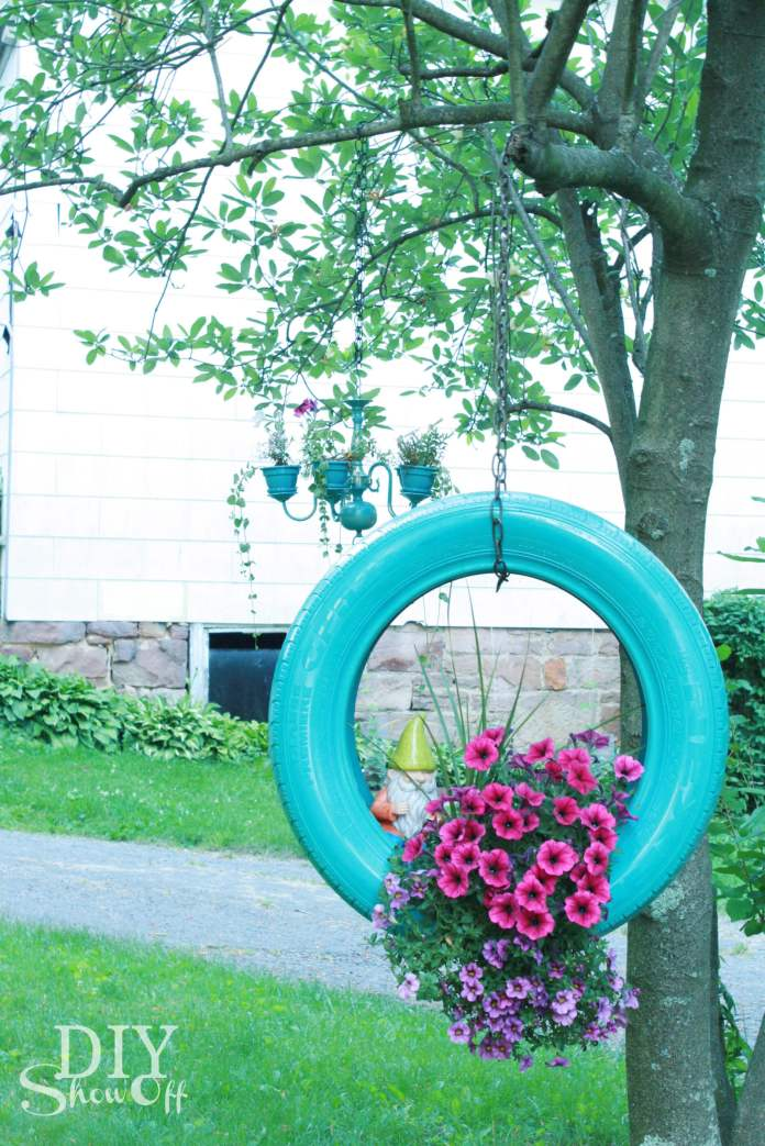 DIY Tire Flower Planter | Low-Budget DIY Garden Pots and Containers
