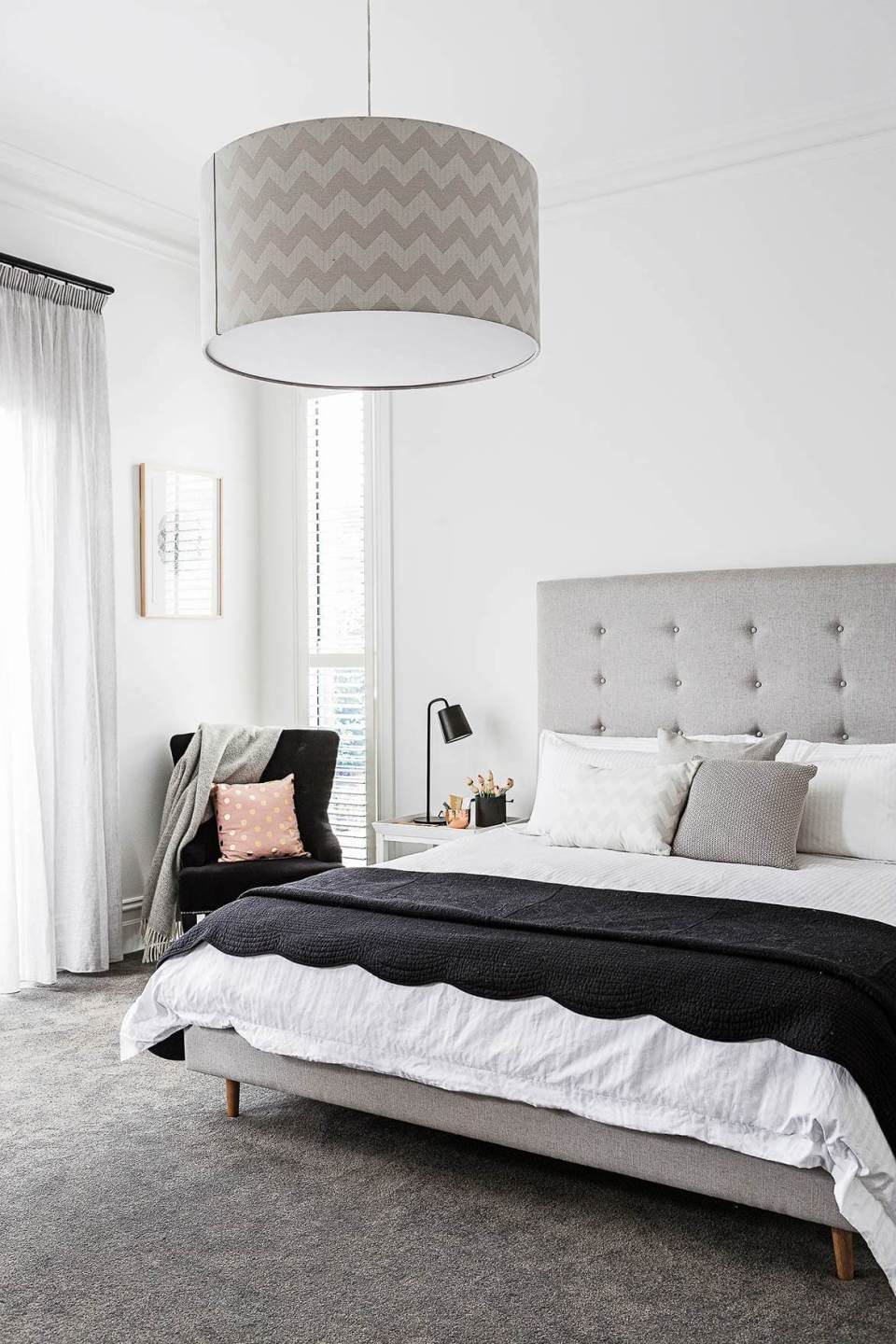 Calming Shades of Grey Master Bedroom