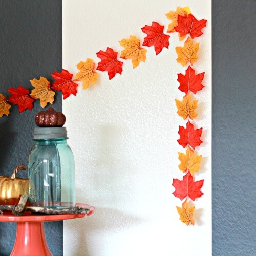 Fall Garland | DIY Fall-Inspired Home Decorations With Leaves - FarmFoodFamily
