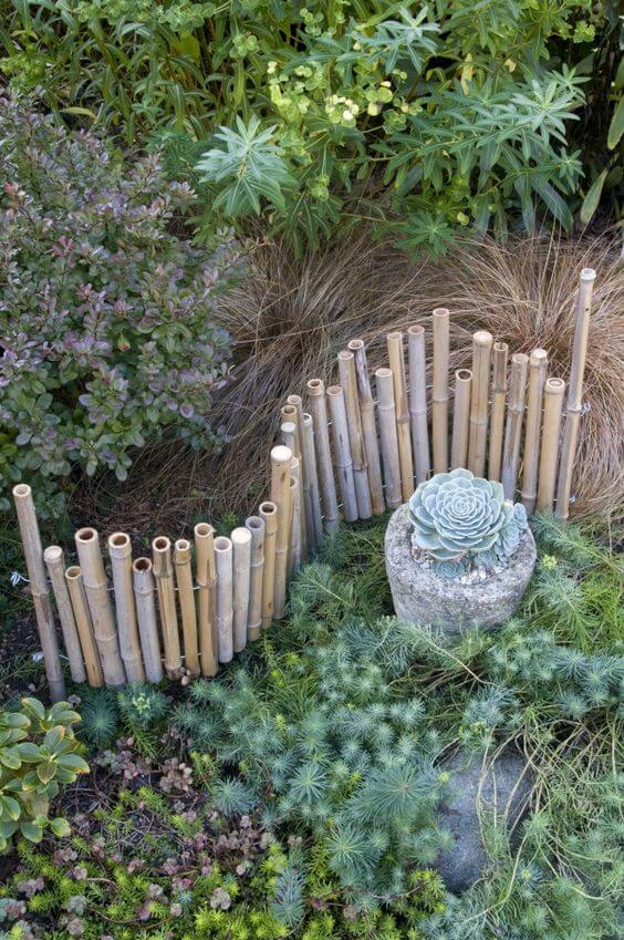 bamboo Edging | Stunning Bamboo Craft Projects | FarmFoodFamily.com