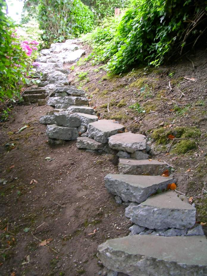 Stairs from Old Concrete Blocks | Creative Garden Step & Stair Ideas | FarmFoodFamily