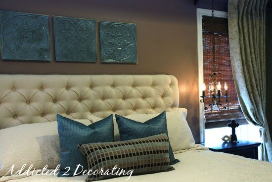 Diamond-Tufted Upholstered Headboard | DIY Headboard Decoration Ideas for Bedroom