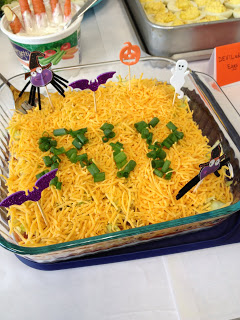 Graveyard 7-Layer Dip | Last-Minute Halloween Crafts and Hacks | FarmFoodFamily.com