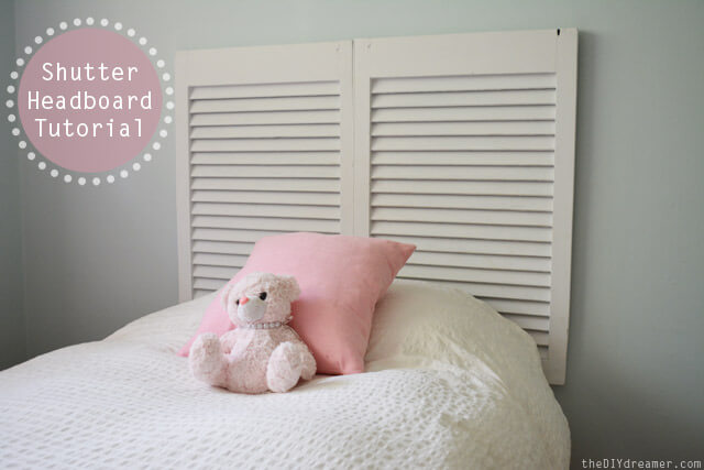 Shutter Headboard | DIY Headboard Decoration Ideas for Bedroom