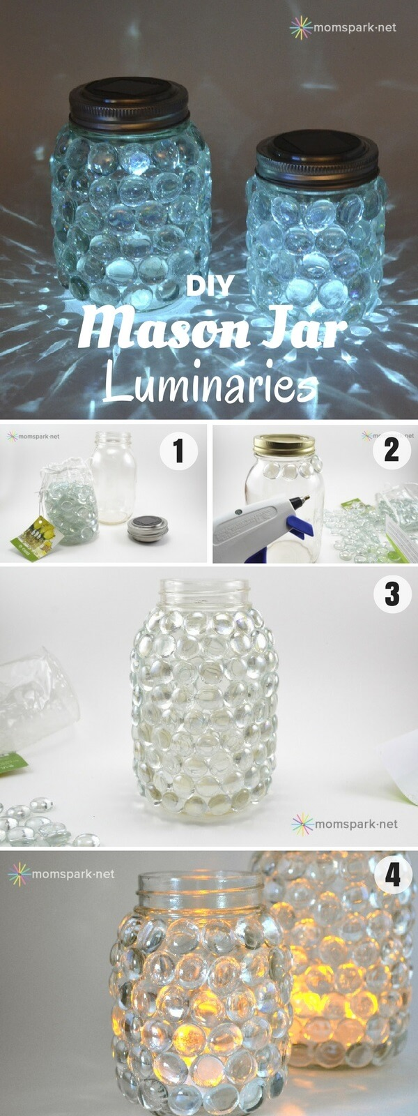 DIY Mason Jar Luminaries | Creative DIY Garden Lantern Ideas - FarmFoodFamily.com